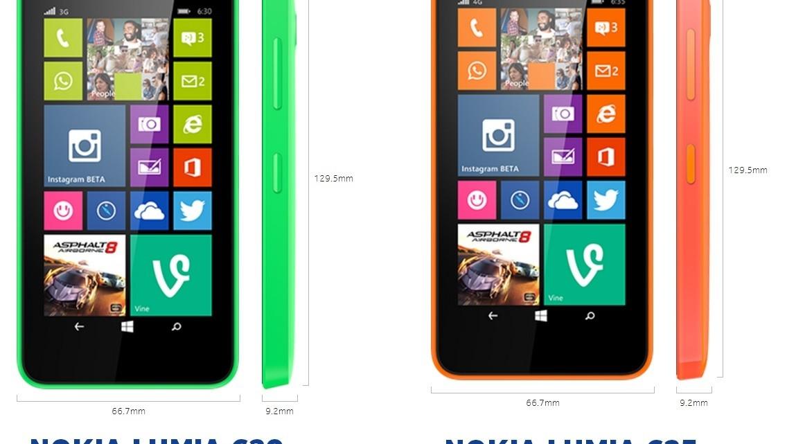 comparison-lumia 630/ lumia 635