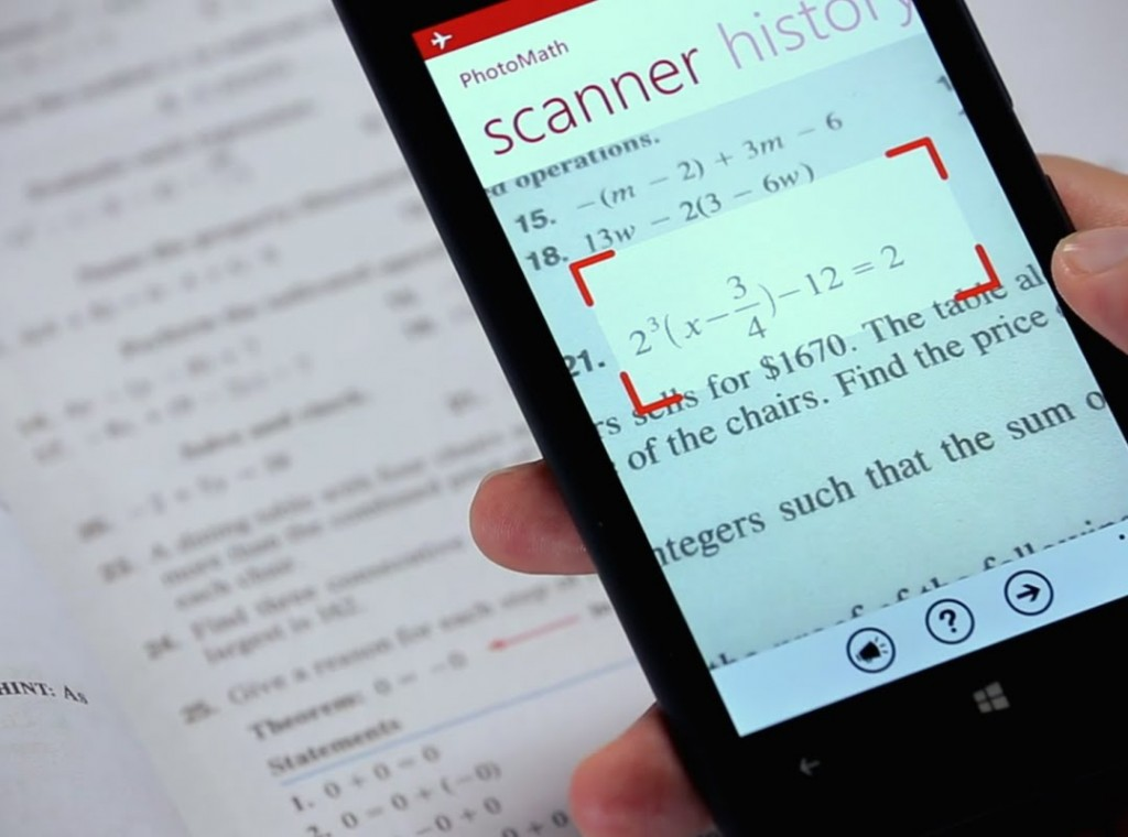 #4 in Our Mobile Phone Software List - PhotoMath (Free)